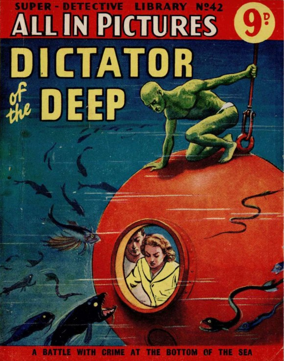 """""""Paul Darrow"""" debuts in Super Detective Library Issue 42 - Dictator of the Deep"""