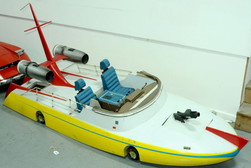 The speedboat prop used in scenes from Gerry Anderson's The Investigator pilot. Image: Vectis