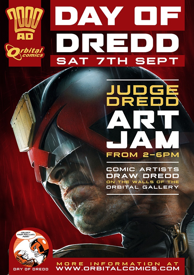 Orbital Comics - Day of Dredd Art Jam 2019