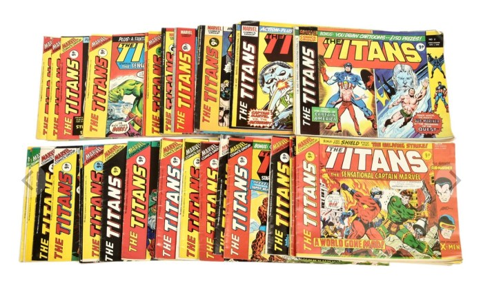 Marvel UK The Titans Bronze Age Comics 1975 #2,-12, 14-19