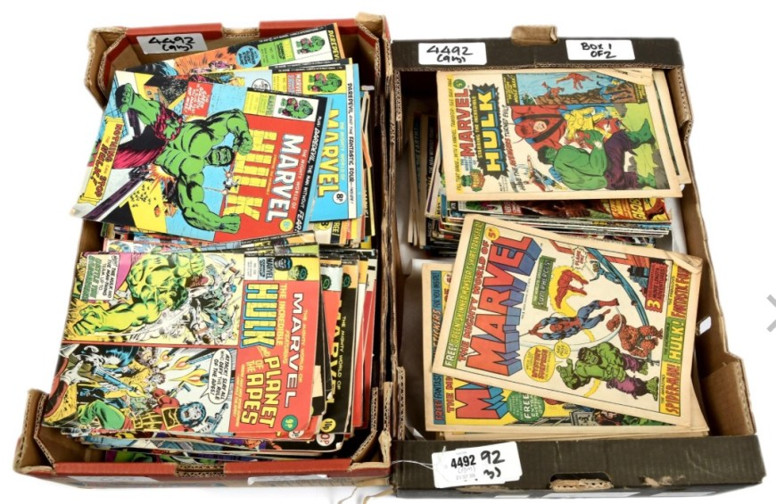 Selection of Marvel UK's Mighty World of Marvel including The Mighty World of Marvel 1972 #1