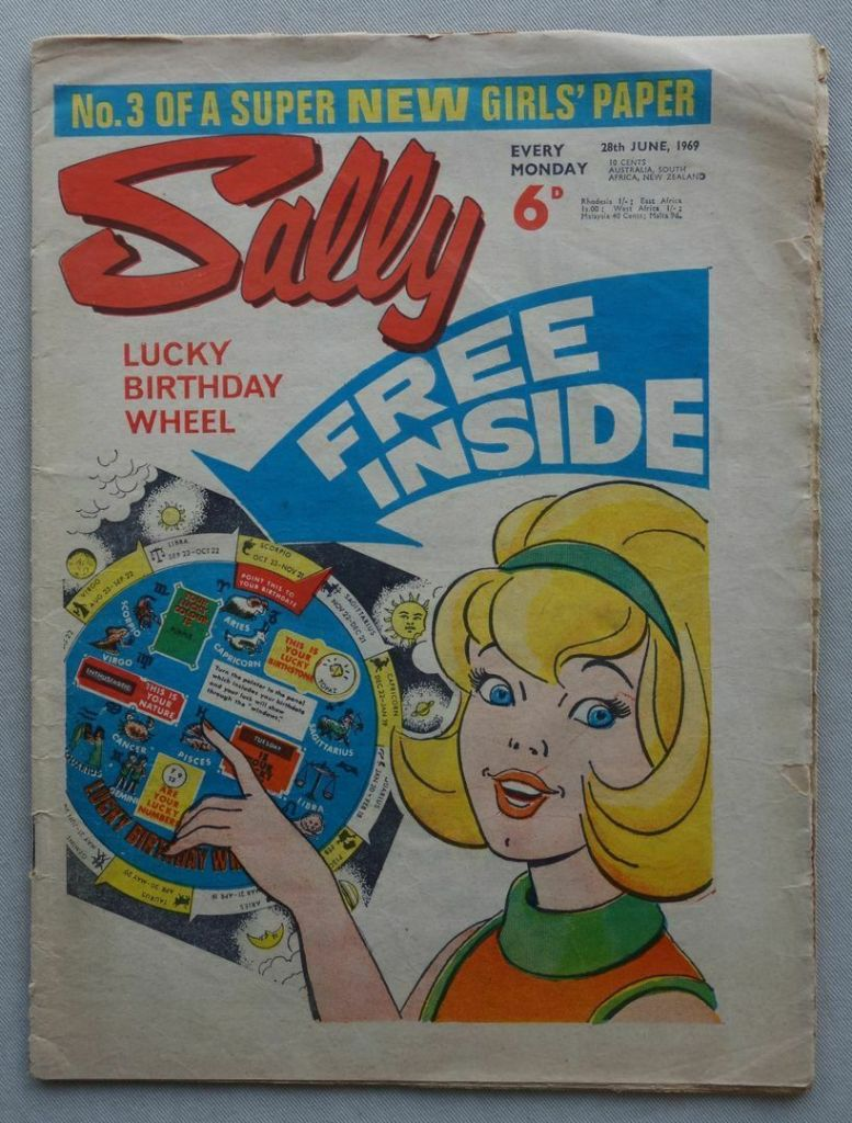 Sally Issue 3, cover dated 28th June 1969