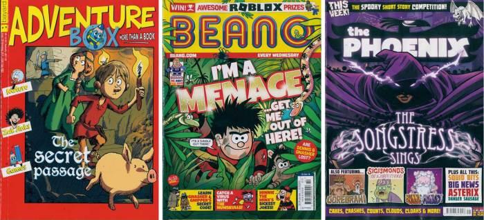 Adventure Box 238, Beano 4007 and The Phoenix 406