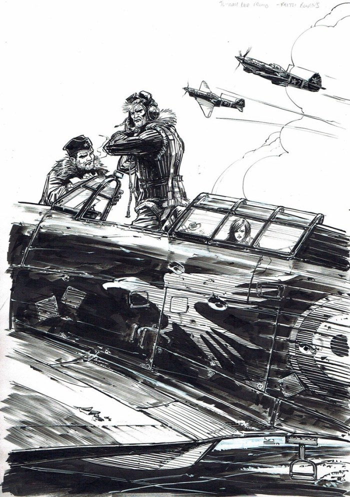 Promotional art for Titan Comics Johnny Red mini-series by Keith Burns
