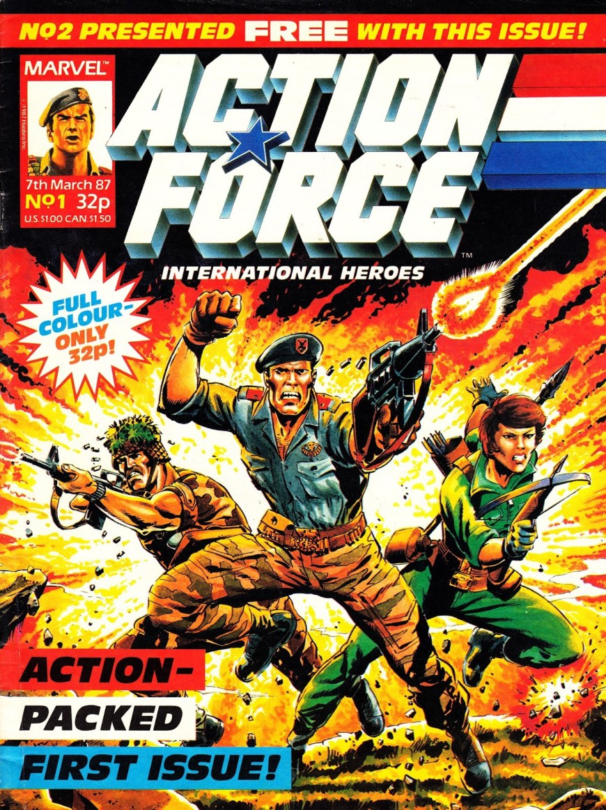Marvel UK's Action Force #1, published in 1987, cover by Geoff Senior