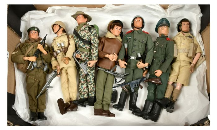 These unboxed Action Man figures sold for £320 at Vectis in September, well above the estimate