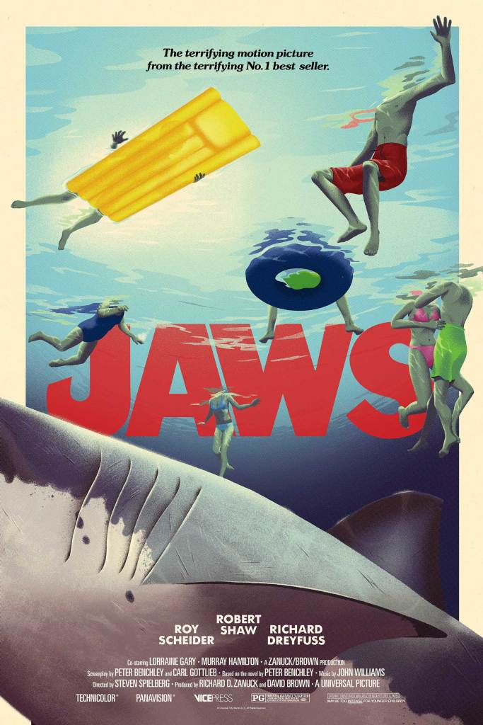 Vice Press Poster - Jaws poster by George Bletsis