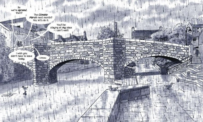 Rain by Mary and Bryan Talbot - Sample Art