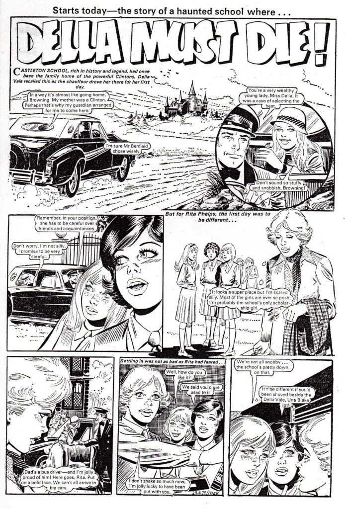 "Could Andres Klacik be another new name in British comics? Here's what is believed to be an example of his work, ""Della Must Die"", from a 1979 issue of Debbie"