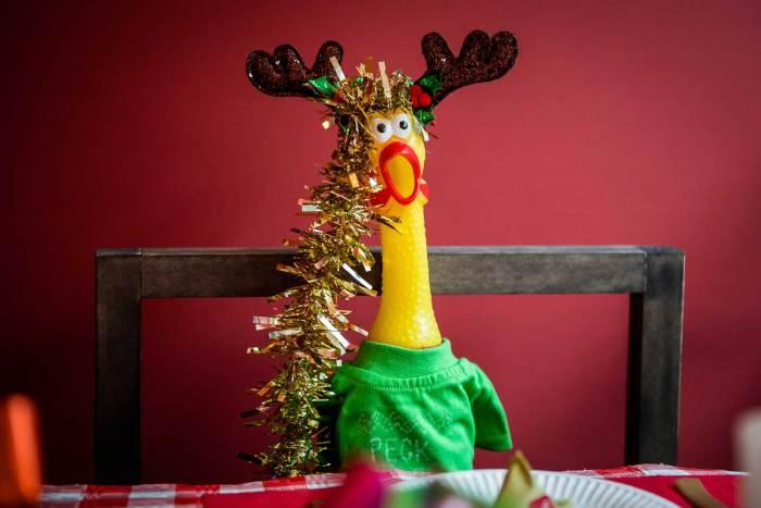 Beano Studios Rubber Chicken Christmas Window 2019