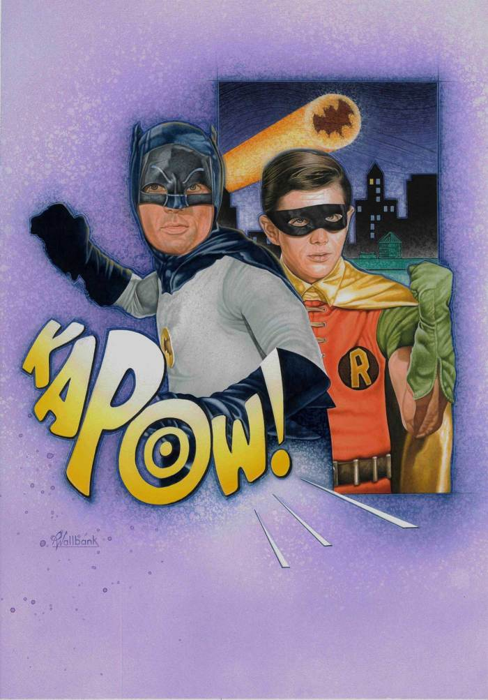 Pete Wallbank's full 1960s Batman TV series cover art for Infinity Issue 24
