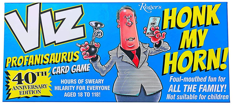 "VIZ releases ""Honk My Horn"", a Roger's Profanisaurus-inspired game of, well, swearing…"