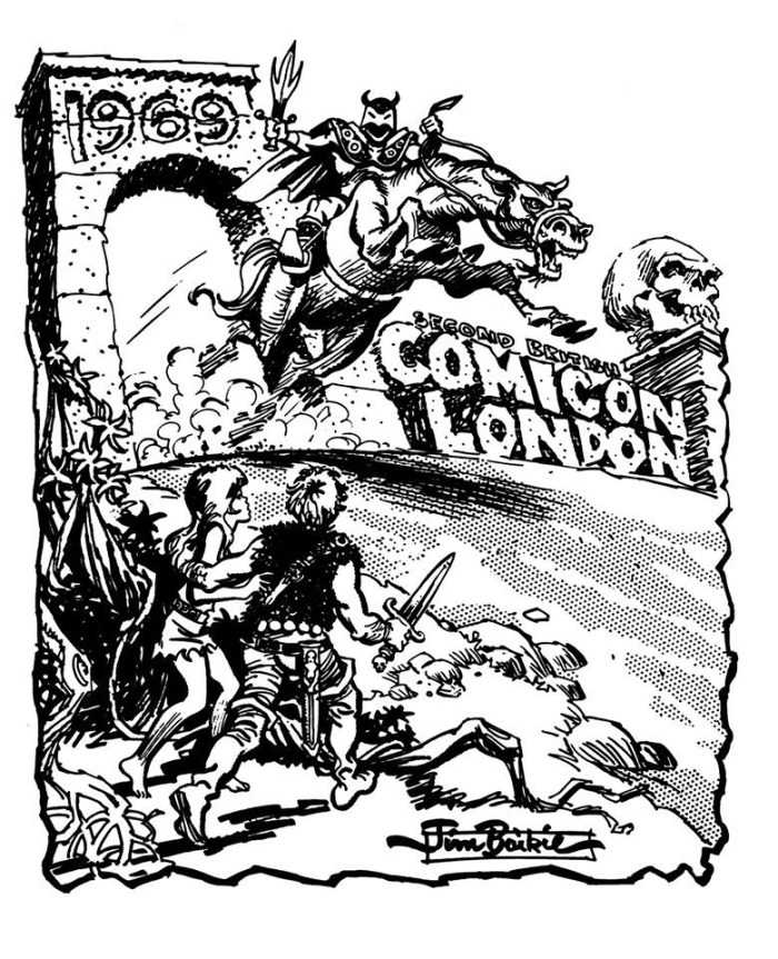 London ComiCon 1969 Convention Booklet - Cover by Jim Baikie