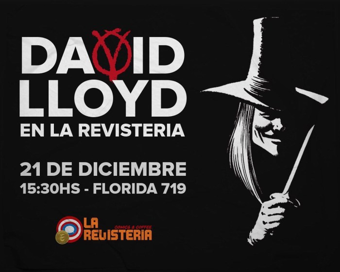 Publisher David Lloyd will be introducing some new friends to the wonders of Aces Weekly this Saturday at La Revisteria Comics & Coffee in Buenos Aires, Argentina so do head over and say hi, if you'll be nearby.
