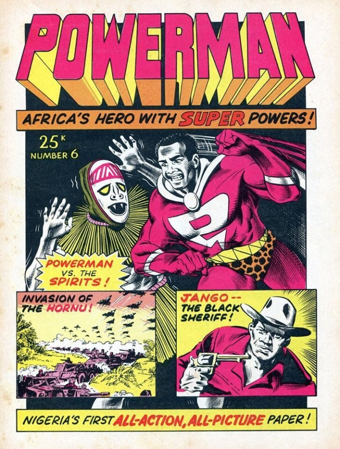 Powerman #6 cover by Brian Bolland published in Nigeria in the 1970s. Brian was then paid £17 a page for his work...