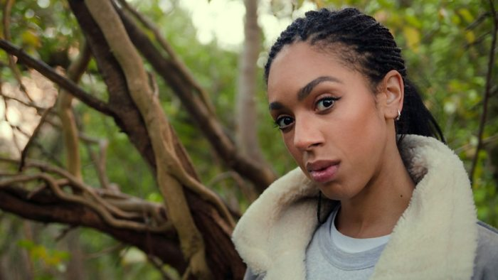 Pearl Mackie in Forest 404. Image: BBC