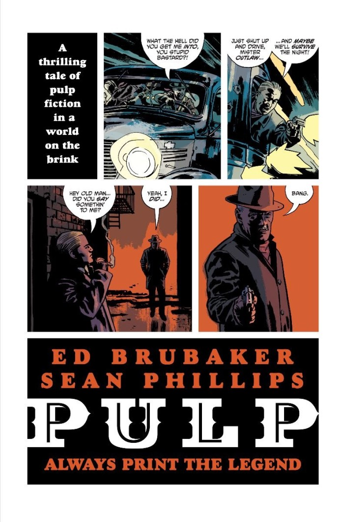 PULP trailer teases new graphic novel from Ed Brubaker and Sean ...