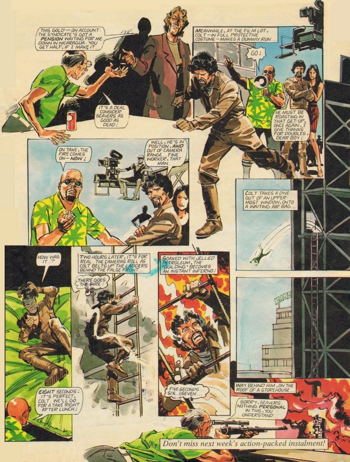 "An episode of ""The Fall Guy"" from Look-In published in 1982 (Issue 31)"