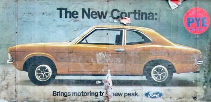 1970s Ford Cortina Poster - The New Cortina: Bringing Motoring to a New Peak