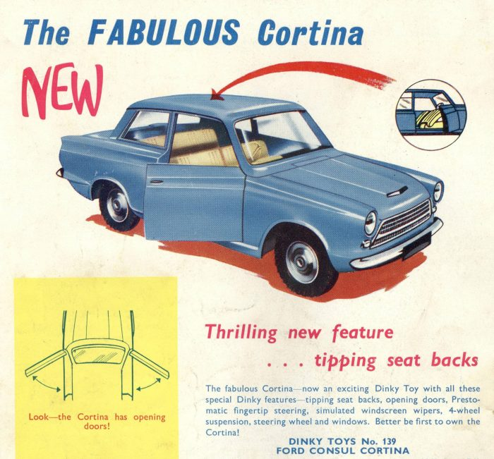 Dinky Toy Cortina Ad