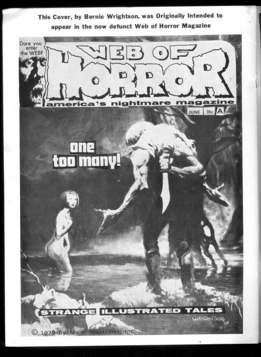 Bernie Wrightson's cover for Web of Horror #4, later published in Scream Door #1