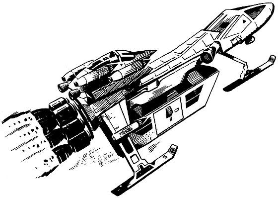 Starcruiser art by David Jefferis