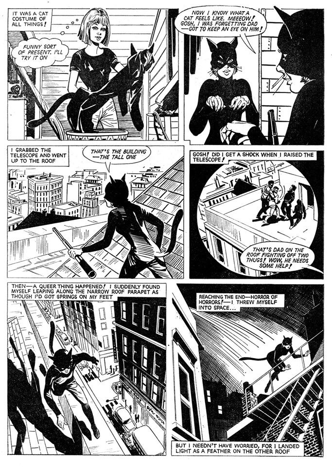 Sally - The Cat Girl Page 2 - Issue One cover dated 14th June 1969