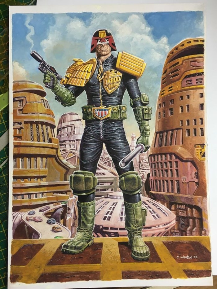 Judge Dredd art by Chris Weston