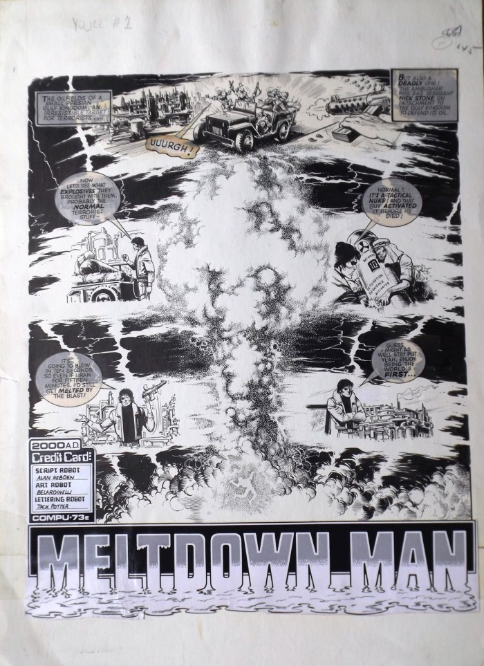 2000AD Prog 178 - Meltdown Man Part One Page One - art by Massimo Belardinelli