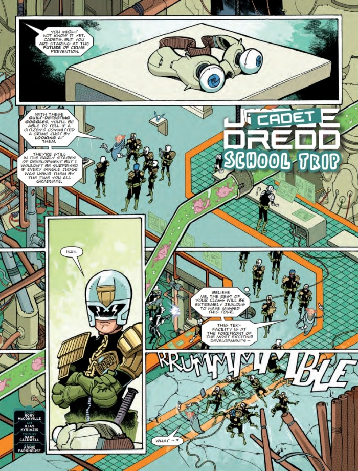 "2000AD 2170 - Cadet Dredd"" story, by Rory McConville and Ilias Kyriazis"