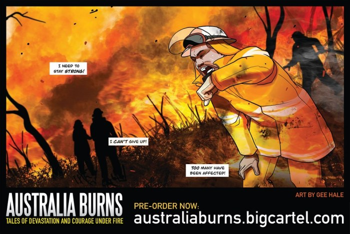 Australia Burns: Tales of Devastation and Courage Under Fire - art by Gee Hale