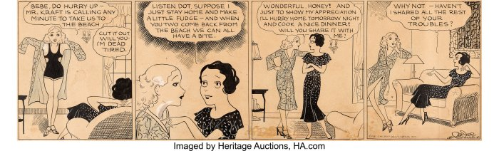 Chester Gould's The Girl Friends Daily Comic Strip Original Art (Chicago Daily News, Inc., 1931)