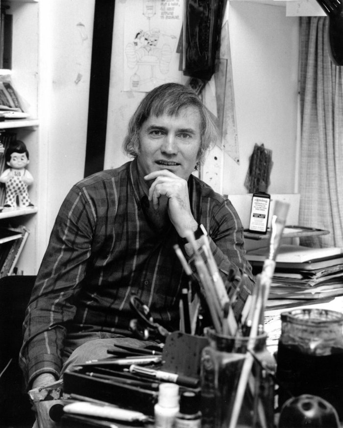 Jim Baikie in his studio