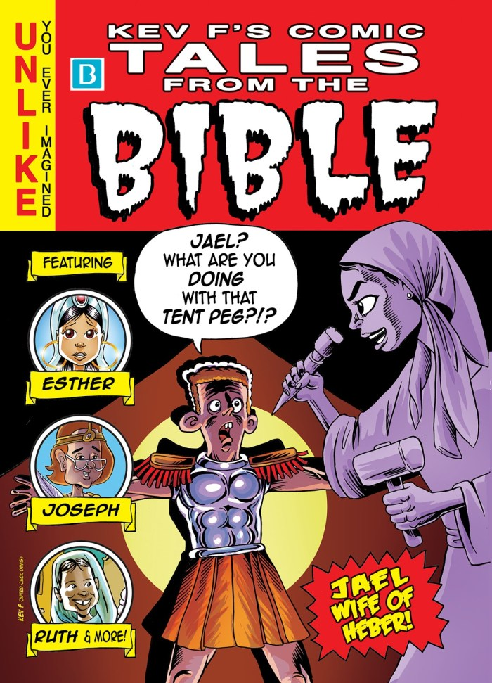 """Kev F Sutherland's """"Tales from the Crypt"""" inspired cover for """"Tales from the Bible"""""""