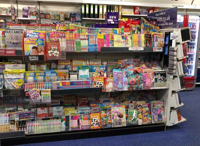 Young children's titles on sale in WHSmith Lancaster were squeezed for space back in January, with puzzle magazines - the leading publishing sector - taking precedence on the shelf