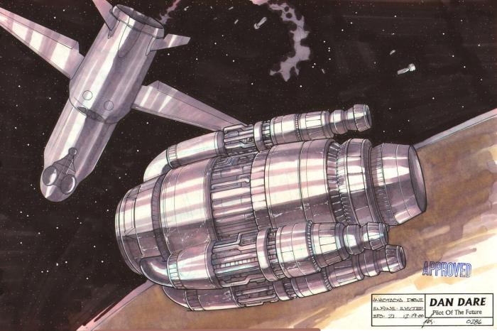 Dan Dare: Pilot of the Future Concept Design by Dave Max, featuring the Anastasia