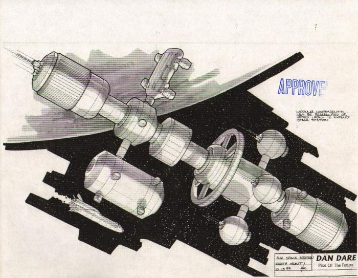 Illia Space Station. Concept art for Dan Dare: Pilot of the Future by Dave Max