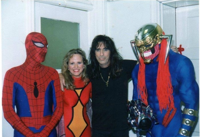 "The day Alice Cooper turned up at Marvel UK. His first question? ""Where's the John?"" Photo courtesy Tim Quinn"