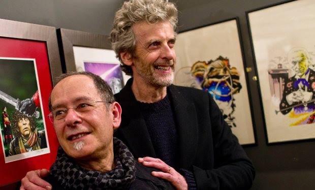 Chris Achilléos and Peter Capaldi. Photo via Chris Achilléos on Facebook
