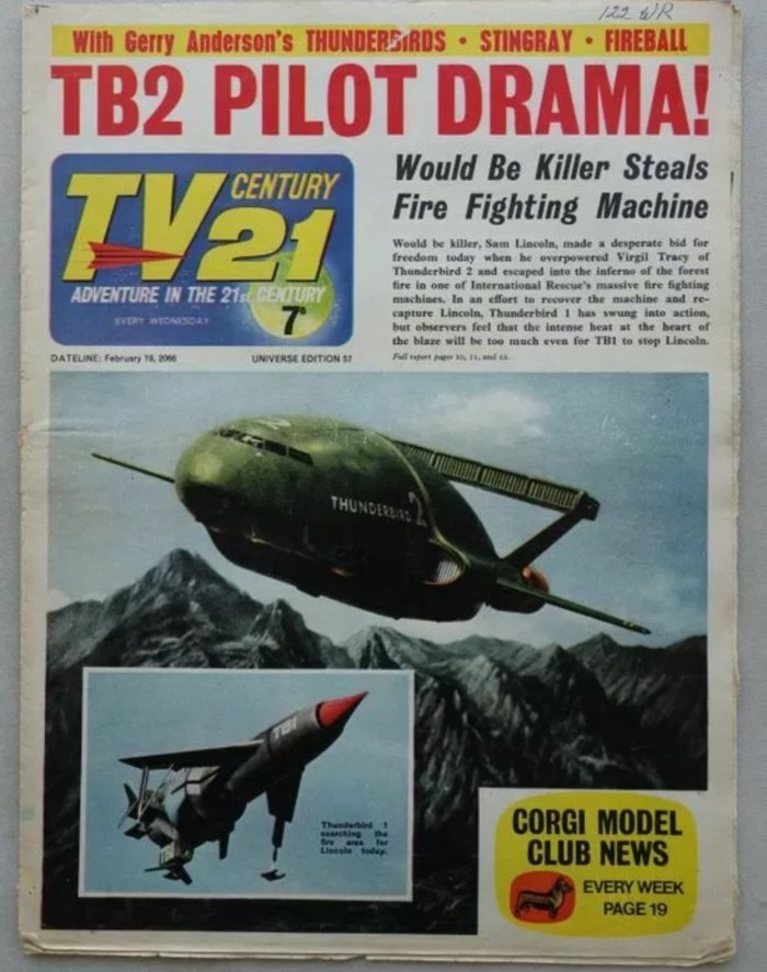 TV Century 21 Issue 57, cover dated 19th February 1966