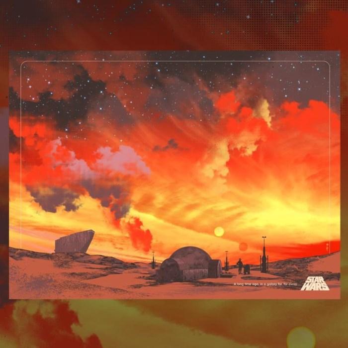 "The original art for ""Binary Star"", Guy Stauber's Official, Original Star Wars Poster"