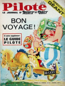 Pilote 347 featuring Asterix, cover by Albert Uderzo