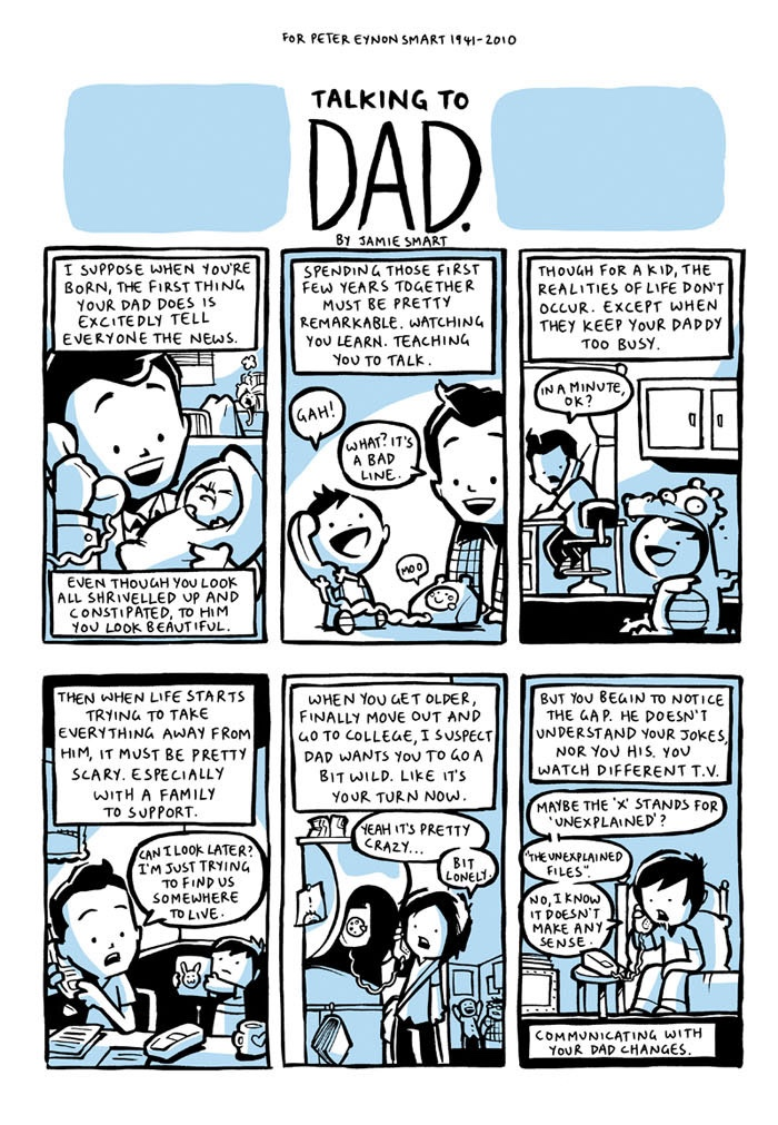 """Talking to Dad"" by Jamie Smart"