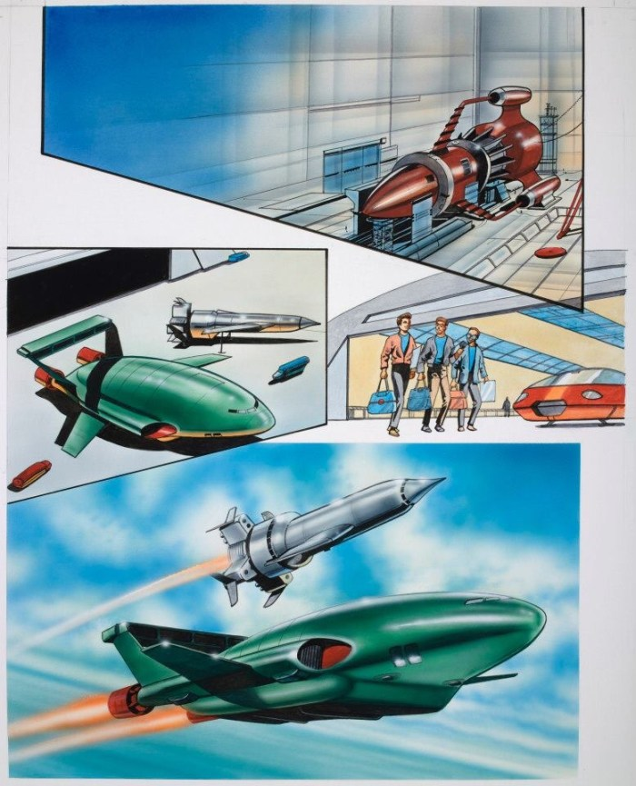 Thunderbirds Legends - Art by Andrew Skilleter