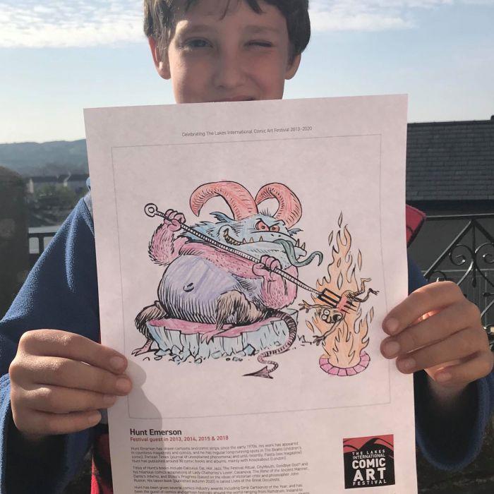 Lakes International Comic Art Festival - Colouring Sheets 2020