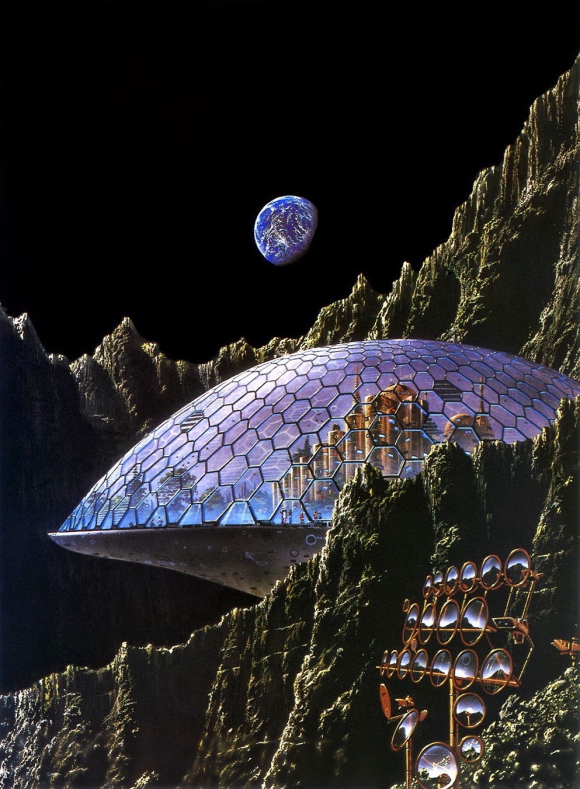 Tim White's cover art for Assignment in Eternity, Volume One by Robert A. Heinlein, 1977