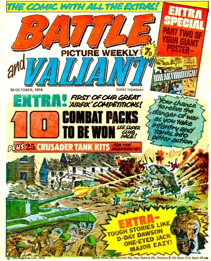 Battle Picture Weekly and Valiant, cover dated 30th October 1976