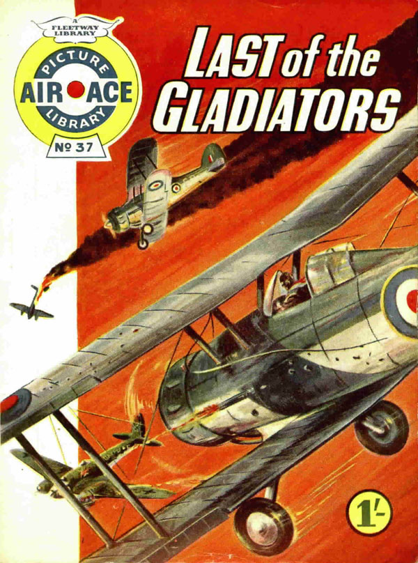 Air Ace Picture Library #37 first published January 1961. Cover art by Nino Caroselli