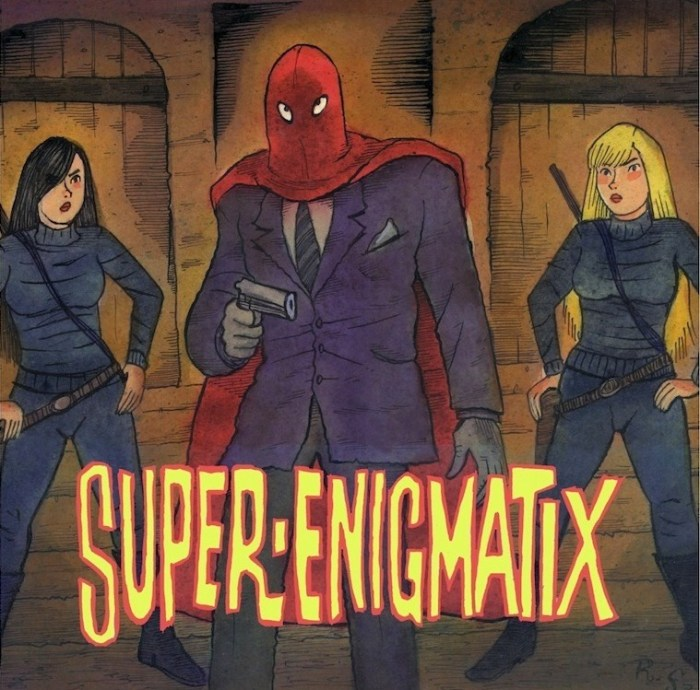 "The frontispiece for the web comic ""Super Enigmatix"" by Richard Sala"