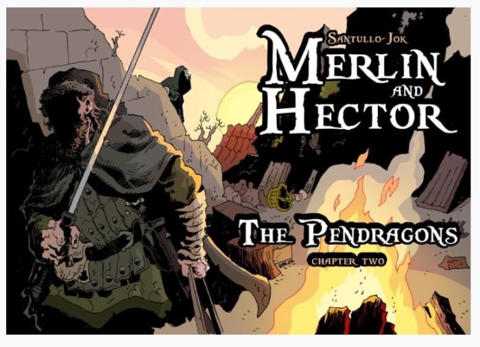 Aces Weekly Volume 45 - Merlin and Hector: The Pendragons © 2020 Jok and Santullo